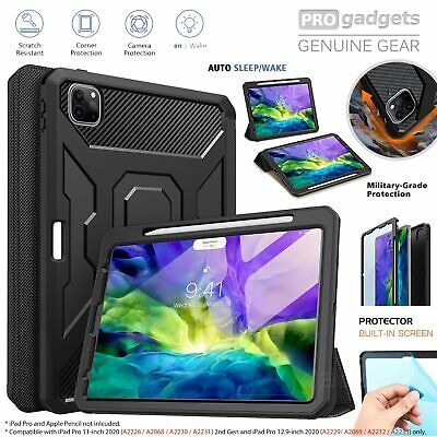 AU69.99 • Buy Genuine Moko Shockproof Full Body Trifold Cover For IPad Pro 11/ 12.9 2020 Case