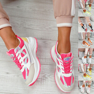 $ CDN26.28 • Buy Womens Ladies Lace Up Chunky Sport Sneakers Party Women Trainers Shoes Size