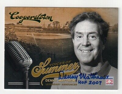 $14.95 • Buy DENNY MATTHEWS Signed 2012 Panini Cooperstown Card #7 Hall Of Fame HOF Autograph