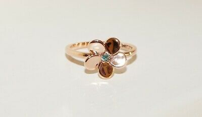 AU499 • Buy .14ct 14k Rose Gold Natural Alexandrite Flower Ring Size N1/2