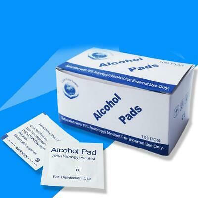 Antibacterial Alcohol Wipes Swabs Sachet Pads Antiseptics First Aid Nails Wash  • 1.99£