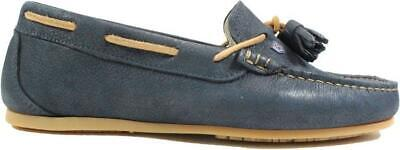 £81 • Buy Dubarry Jamaica Navy Leather Womens Slip On Moccasin Shoes