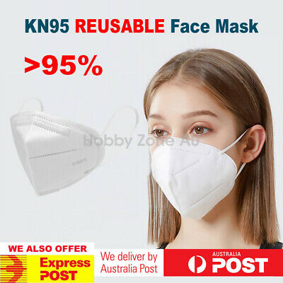 AU14.89 • Buy 3/5/10/20 Reusable KN95 Disposable Face Mask Pad Anti Dust Protection Filter