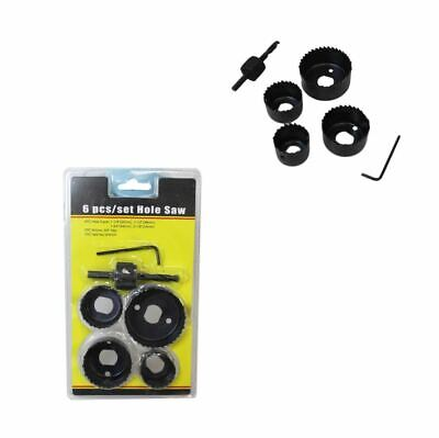 £9.99 • Buy 6HOLE SAW KIT SET 32-54mm HEAVY METAL CIRCLE CUTTER ROUND DRILL WOOD DOWNLIGHT