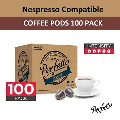 AU29.95 • Buy Nespresso Compatible Coffee Pods Capsules Intense Rich Roasted Espresso 100 Pack