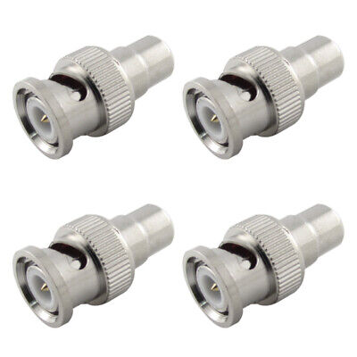 $ CDN9.95 • Buy 4pcs RCA Female To BNC Male Security Cable Adapter Converter Connector Plug Ends