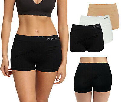 £3.99 • Buy Womens Black Knickers Underwear Shorts Stretch Yoga Boxers Sports Soft Hot Pants