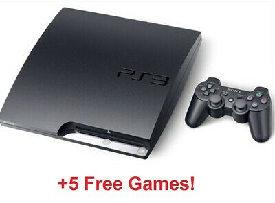 $ CDN224.80 • Buy Sony PlayStation 3 Console PS3 Slim Game Bundle Lot   Controller, 5 Games, Cords