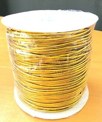 $ CDN51.02 • Buy 2mm Beading Gold Round Elastic Stretchy Cord 100 Yards-Spool