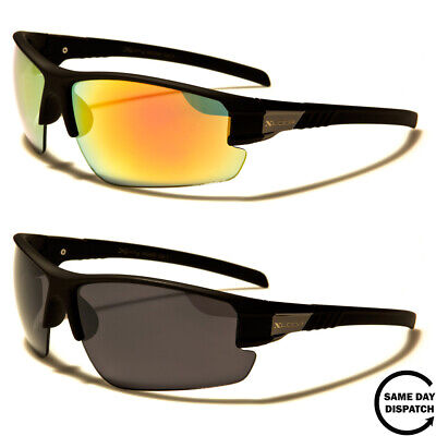 New Mirrored Black XLoop Sport Running Wrap Mens Womens Unisex Sunglasses UV400 • 10.99£