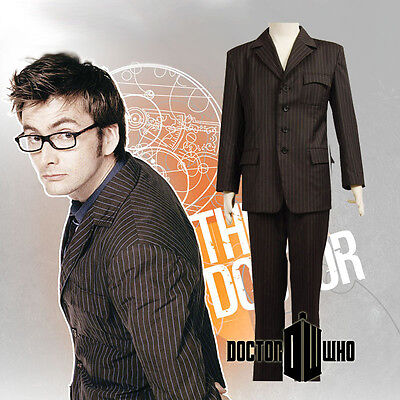 Doctor Who DR. Brown Suit Halloween Uniform Cosplay Costume Custom Made • 47.31£