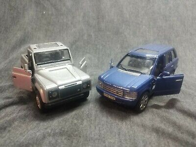 Land Rover And Range Rover Metal Diecast Model Car  • 10£