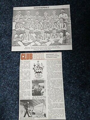 £1.25 • Buy Southport FC Football Club Team Pic 1952/53 And Club Call Feature