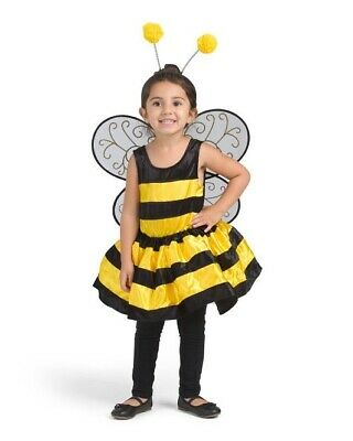 £16.99 • Buy 3 Pcs Toddler Girls Fancy Dress Bumble Bee Costume Wings Hairband 18-24 Months