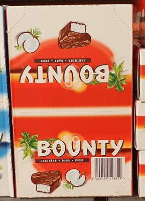 BOUNTY Dark Chocolate - FULL BOX 24 X 57g Bars • 20.98£