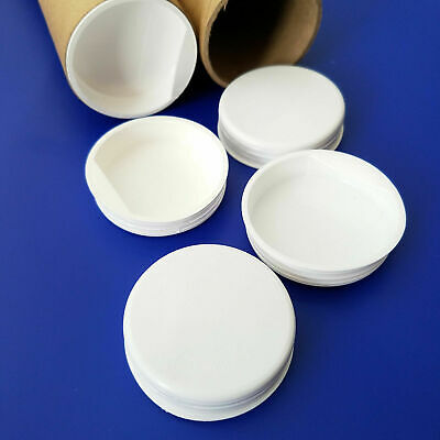 $7.49 • Buy Pack Of 50 Pcs.  2  White Plastic End Caps For Shipping Mailing Tubes.