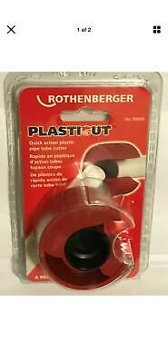 £12.99 • Buy ROTHENBERGER PLASTICUT Plastic Pipe Tube Cutter 3/4  & 1  59090 New Sealed