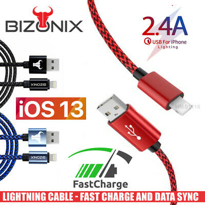 AU7.45 • Buy Braided USB Lightning Charging Charger Cable Apple IPhone IPad 6 X 8 7 5 SE XR
