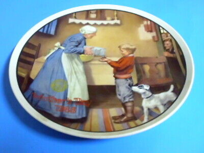 $ CDN6 • Buy Collector Plate By Norman Rockwell Mothers Day 1986 The Pantry Raid