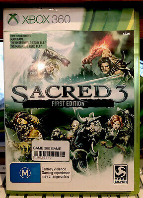AU21.99 • Buy Sacred 3 First Edition Xbox 360, With Manual, Cleaned Tested, 🇦🇺Seller