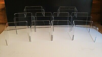 *10 Set*clear Acrylic Perspex Display Stands,plastic,plinths,riser,shop,exhibit • 14.50£