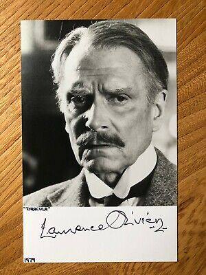 Laurence Olivier Actor And Director 5.5x3.5 B&W Signed Autographed Photograph • 50£