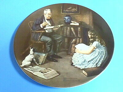 $ CDN6 • Buy Collector Plate Norman Rockwell Heritage Collection The Storyteller