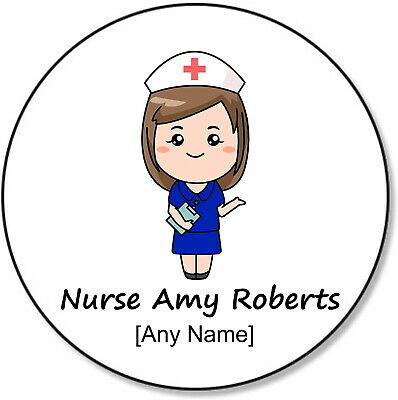 Personalised Custom NHS Nurse Doctor Midwife Coffee Tea Round Wood Coaster SET • 1.99£
