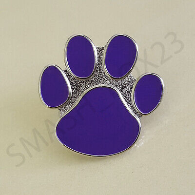 Animals In War Purple Paw Design Enamel Lapel Pin Badge Brooch Cat Dog Poppy UK • 3.29£