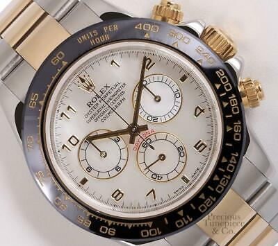 $ CDN20099.30 • Buy Rolex Daytona 116523 Two Tone 18k/SS 40mm Watch-White MOP Dial-Black Ceramic