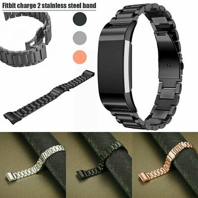 AU9.99 • Buy For Fitbit Charge 2 Stainless Steel Watch Band Bracelet Strap Metal Wristband UK