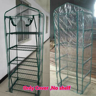 5 Tier Mini Greenhouse Walk In Grow Bag Green House Only PVC Cover Plastic Bag • 11.38£
