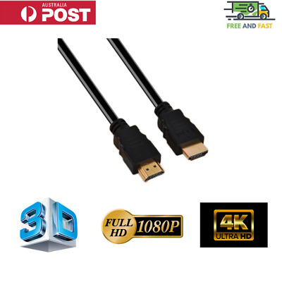AU7.95 • Buy HDMI Cable 3D UHD 4K 2160p 1080p High Speed With Ethernet HEC ARC V1.4 1.5m 2m