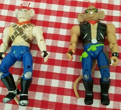 Vinnie And Throttle Biker Mice From Mars Figures • 10.49£