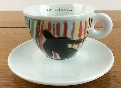 Illy Art Collection Cappuccino Cup And Saucer Signed S Chia 4 Ounce 1997 CLEAN  • 67.91£