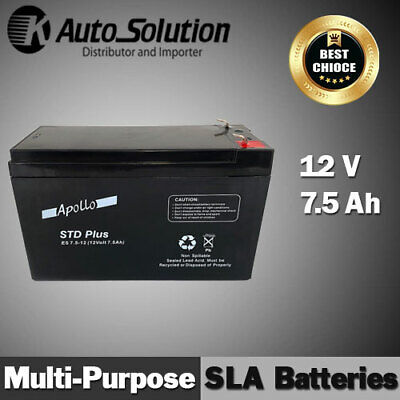 AU38.99 • Buy 12V 7.5AH SLA Battery Main Power Back Up Fits For NBN, UPS, Alarm, Toy X 1 Set