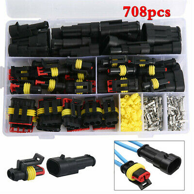 AU62.15 • Buy 708x Car SUV Sealed Waterproof Electrical Wire Connector Plug Kit 12A 1-6Pin Way