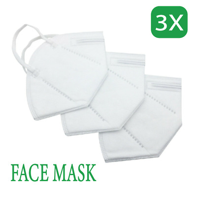 AU10.99 • Buy 3Pcs Face Mask KN95 P2 Particulate Respirator Anti Dust Protection Mouth Dust AU