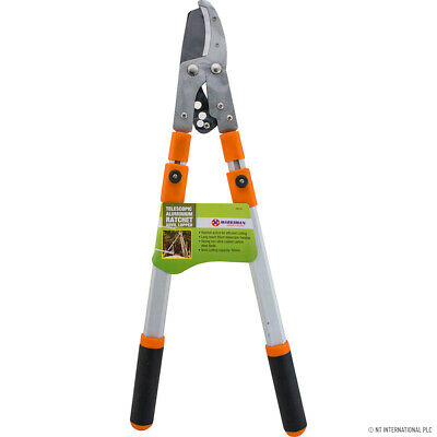 50mm Telescopic Alum.Anvil Pruner Gardening Garden Shear Ratchet Tree Hedg Grass • 16.90£