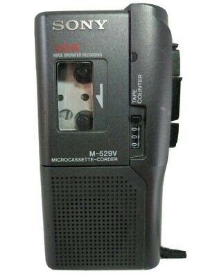 SONY M-529V MicroCassette Portable Recorder - Black. Dictation Machine • 49.99£
