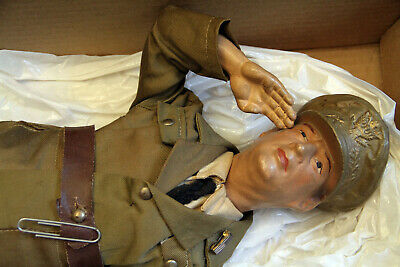 $145 • Buy 1940s WWII Military GENERAL MACARTHUR Composition Doll - Freundlich Novelty Corp