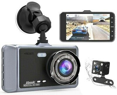 AU105.57 • Buy Dual Dash Cam Front And Rear For Cars Dashboard Camera Set 1080P 4 Inch LCD