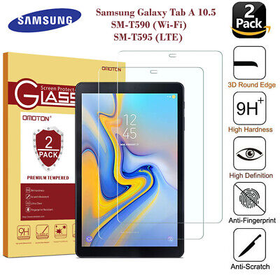 £4.79 • Buy 2PC Tempered Glass Screen Protector For Samsung Galaxy Tab A 10.5 T595 SM-T590