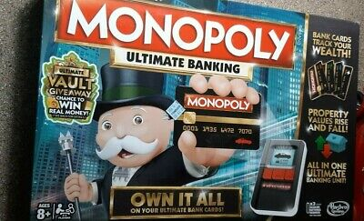 $22 • Buy Monopoly Ultimate Banking Board Game Hasbro Parker Bros 100% Complete