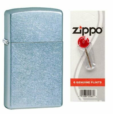 $12.66 • Buy Zippo Slim Street Chrome Genuine Lighter + Flints Bundle USA #1607_2406N_1