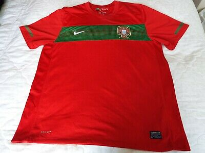 PORTUGAL 2010-12 FPF Nike Home Football Shirt Top Size Large Excellent Condition • 24.99£