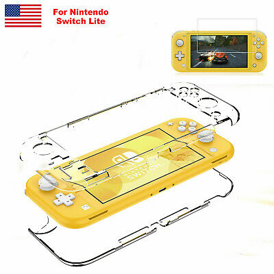 $9.49 • Buy For Nintendo Switch Lite Hard Clear Shockproof Case Cover +3x Screen Protector