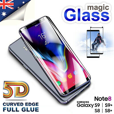 AU8.99 • Buy For Samsung Galaxy S8 S9 Plus Note 8 Tempered Glass Screen Protector Full Cover