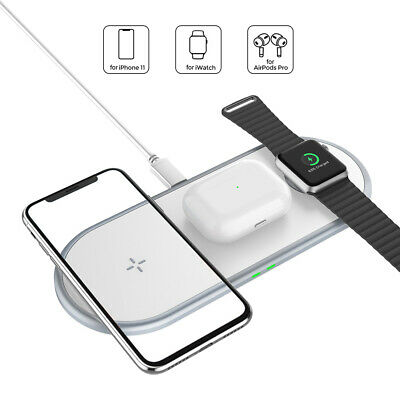$ CDN24.70 • Buy 3in1 Qi Wireless Charger Pad Mat For Apple IWatch 5/4/3/2/1 AirPod IPhone 11 XS