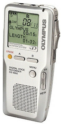 OLYMPUS DS-4000 Digital Voice Recorder - Silver In VGC. Dictation Machine • 89.99£